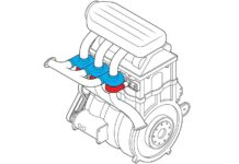 Engine with turbin in each cilinder
