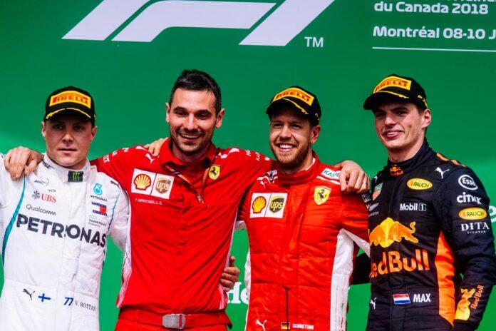 Подиум Гран-при Канады 2018