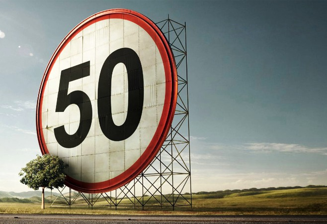Ограничение скорости 50 км/ч