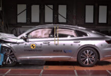 Volkswagen Arteon побил рекорд краш-тестов Euro NCAP