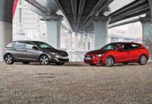 Peugeot 308 против Mazda3