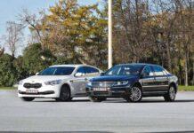Kia Quoris против Volkswagen Phaeton