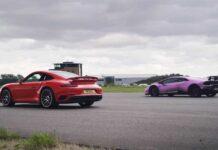 Lamborghini Huracan Performante против Porsche 911 Turbo S