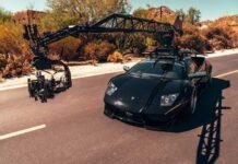 Lamborghini Murcielago приспособили для съемки автомобильных погонь