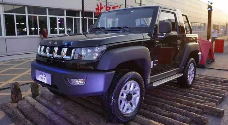 Китайцы показали пикап, похожий на Jeep Wrangler, с мотором от Saab