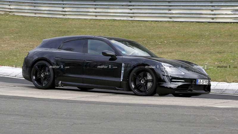Porsche тестирует Taycan в кузове универсал