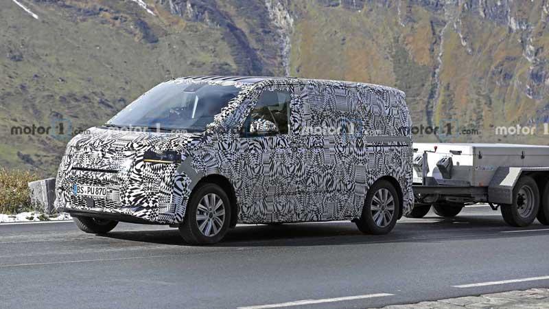 Фотошпионы поймали новый Volkswagen Transporter в серийном кузове