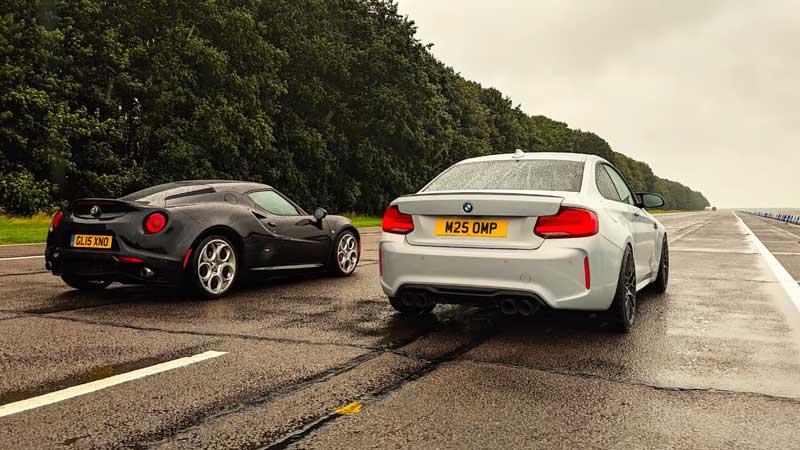 BMW и Alfa Romeo сравнили на мокрой трассе