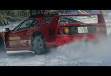 Японец показал, как Ferrari F40 дрифтует на снегу
