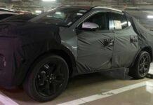 Пикап Hyundai попал на фото в серийном кузове