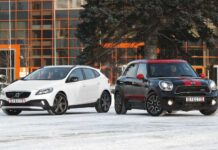 Volvo V40 Cross Country против Mini JCW Countryman