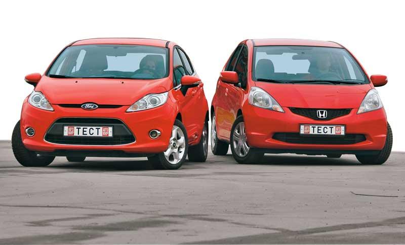 Ford Fiesta против Honda Jazz