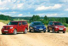 Dodge Nitro против Mazda CX-7 против Land Rover Freelander 2