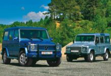 Mercedes-Benz G-класса против Land Rover Defender