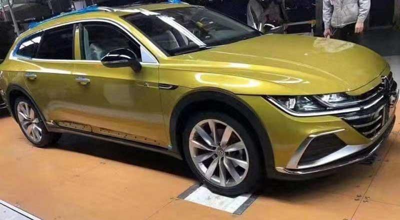 В Китае сфотографировали серийный универсал Volkswagen Arteon