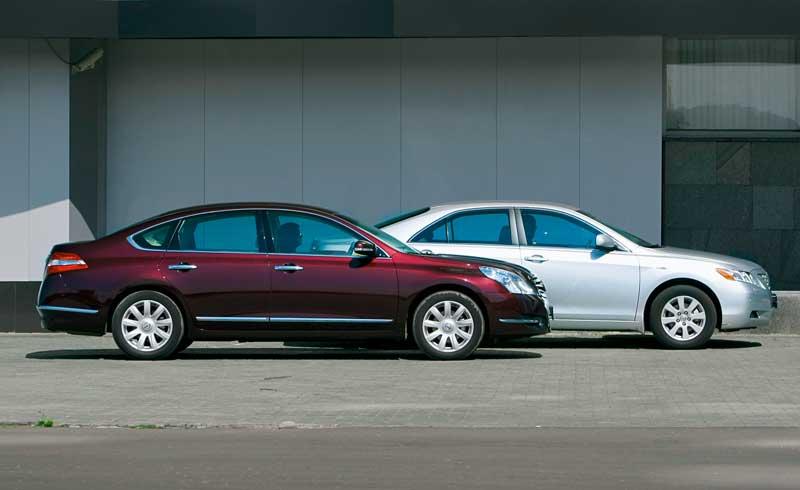 Nissan Teana против Toyota Camry