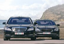 Mercedes S500L 4Matic против BMW 750Li xDrive