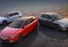 Volkswagen представил три спортивные версии Golf