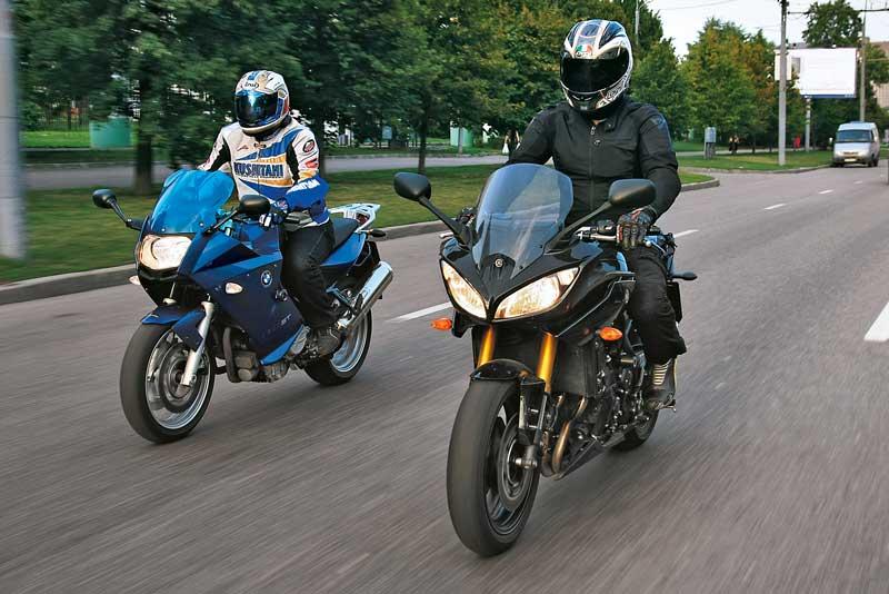 Yamaha FZ8 Fazer против BMW F800 ST