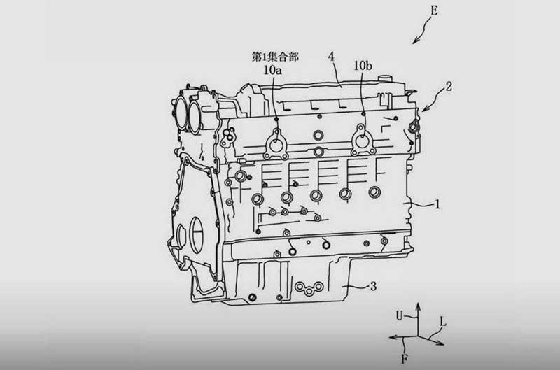 Mazda запатентовала 6-цилиндровый двигатель