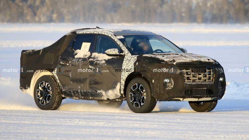 Пикап Hyundai впервые заметили на тестах