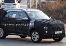 Hyundai тестирует удлиненную 7-местную версию Creta