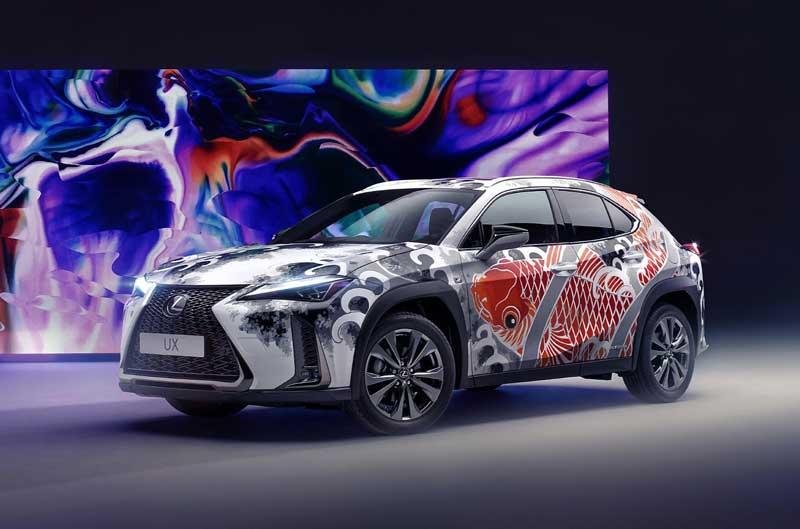 Lexus представил «татуированный» автомобиль