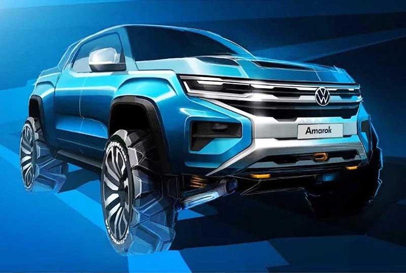 Volkswagen показал первое изображение нового Amarok