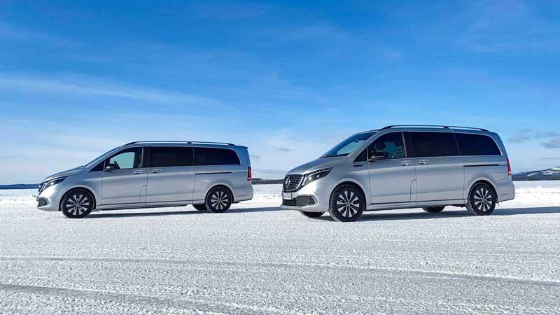 Электрический Mercedes-Benz EQV испытали северными морозами