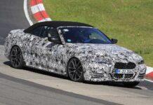 BMW тестирует кабриолет 4-й серии в снегу и на гоночном треке