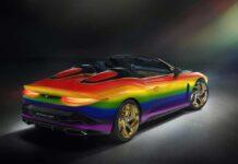 Bentley выкрасила Mulliner Bacalar в цвета радуги