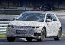 Электрический Hyundai 45 засветился в легком камуфляже