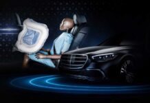 Новый Mercedes-Benz S-Class оснастят необычными подушками безопасности