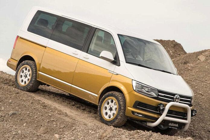 Volkswagen T6.1 научили ездить по бездорожью