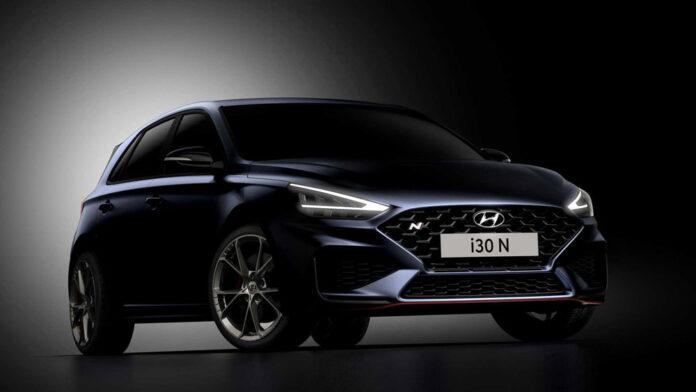 Hyundai показал фото обновленного хот-хэтча i30 N