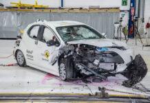 Toyota Yaris разбили по новым правилам Euro NCAP