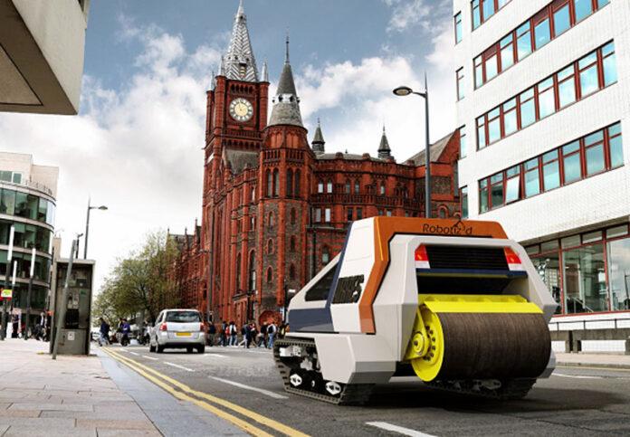 Британцы хотят научить роботов ремонтировать дороги