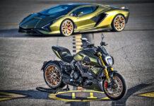 Ducati выпустила мотоцикл в стиле Lamborghini