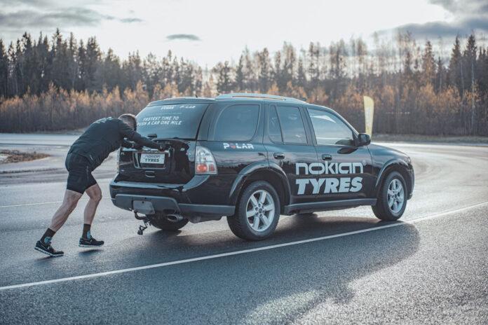 В Финляндии установили мировой рекорд по толканию автомобиля