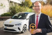 Opel Corsa-e получила награду «Золотой руль 2020»