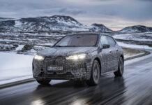 BMW тестирует электрический кроссовер iX в северных морозах