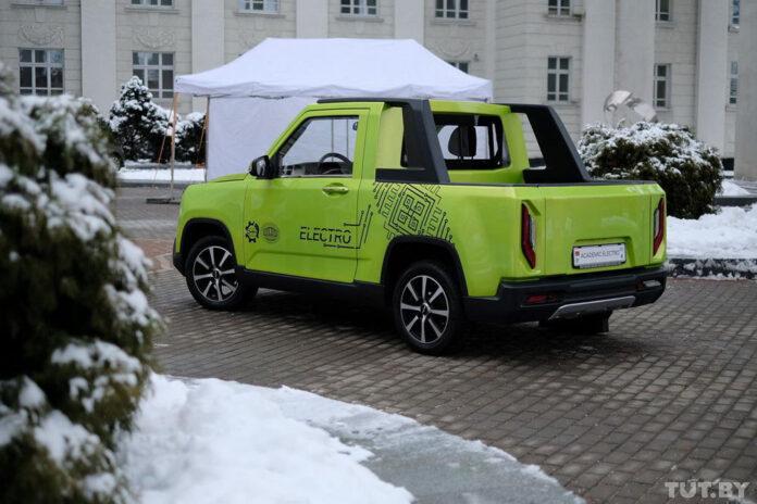 В Беларуси разработали электропикап из запчастей Nissan и Geely