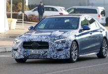 Mercedes-Benz дал посмотреть на предсерийный C-CLass нового поколения