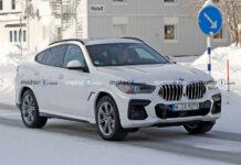 Фотошпионы заглянули в салон обновленного BMW X6