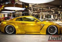 Золотой Nissan GT-R продают почти за полмиллиона долларов