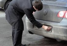 Грязные номера на автомобиле