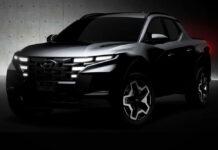 Hyundai показал скетчи пикапа Santa Cruz